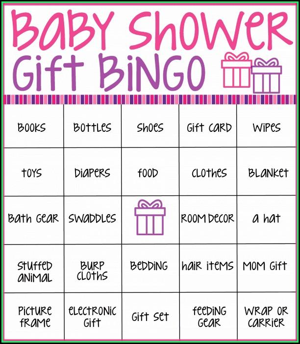 Baby Shower Bingo Template Uk