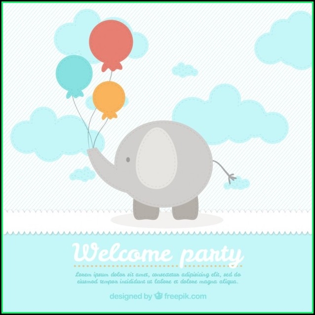 Baby Shower Card Template Free