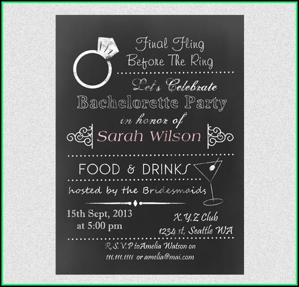 Bachelorette Party Invitation Templates Free Download