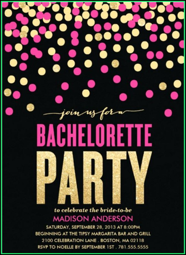 Bachelorette Party Invitation Templates Microsoft