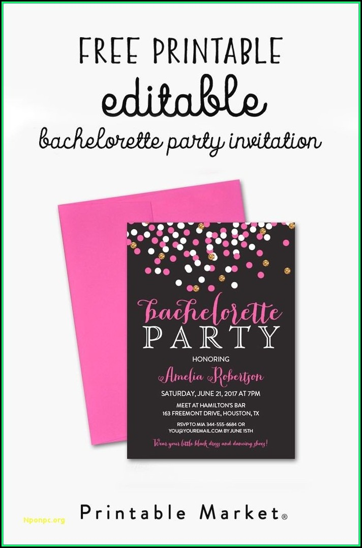 Bachelorette Party Invitation Templates Word