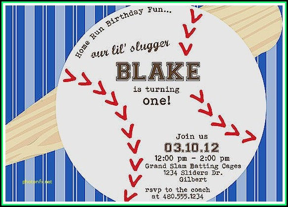 Baseball Baby Shower Invitation Templates Free