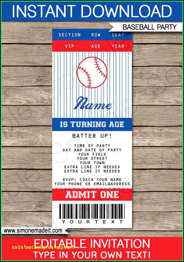 Baseball Invitation Template Free Download
