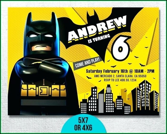 Batman Invite Template