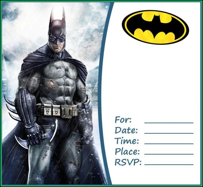 Batman Party Invitation Template