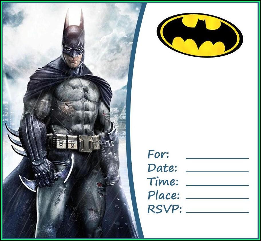 Batman Party Invitation Template