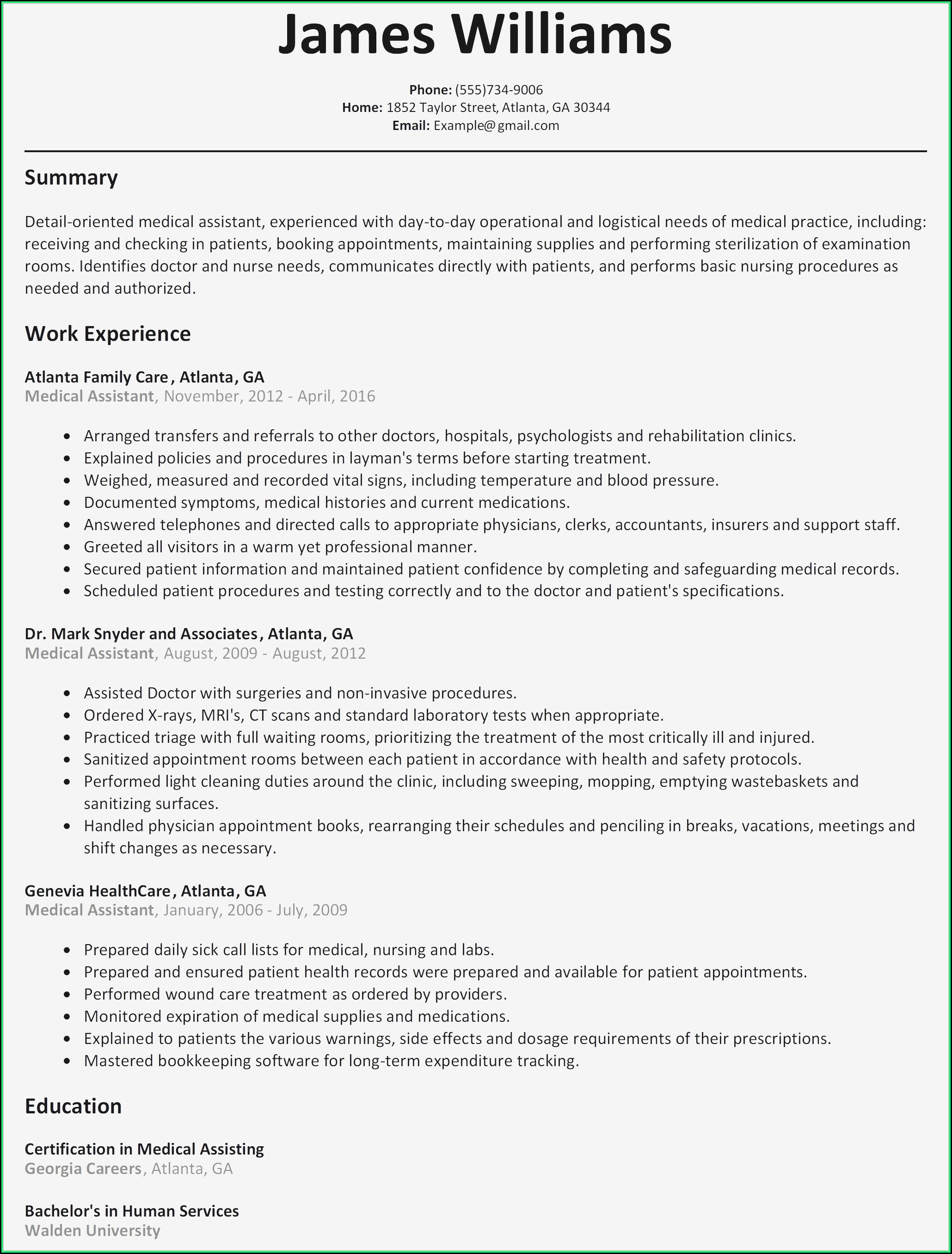 Beautiful Resume Templates Doc