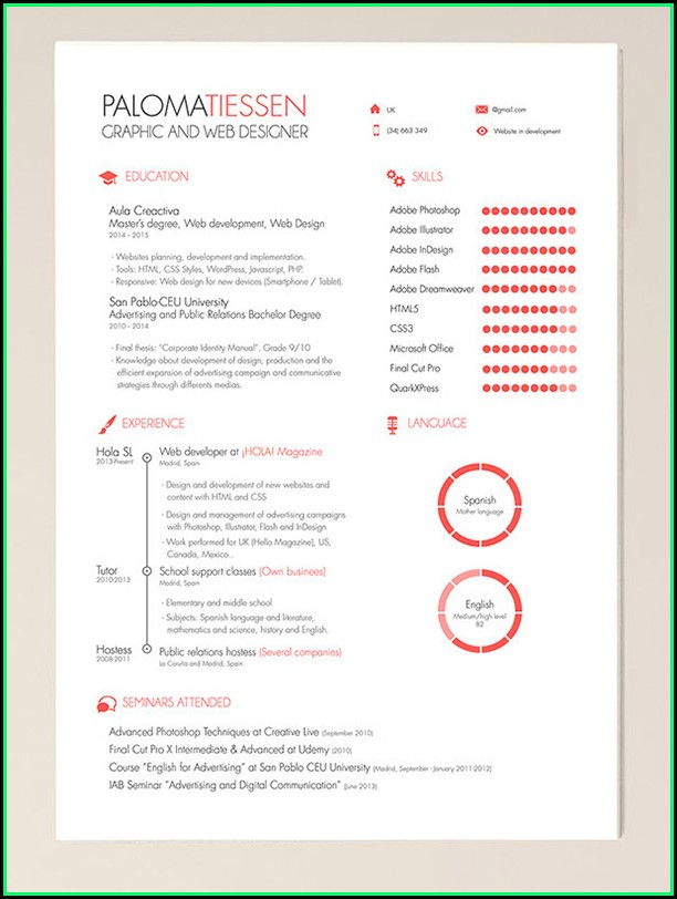 Beautiful Resume Templates Psd