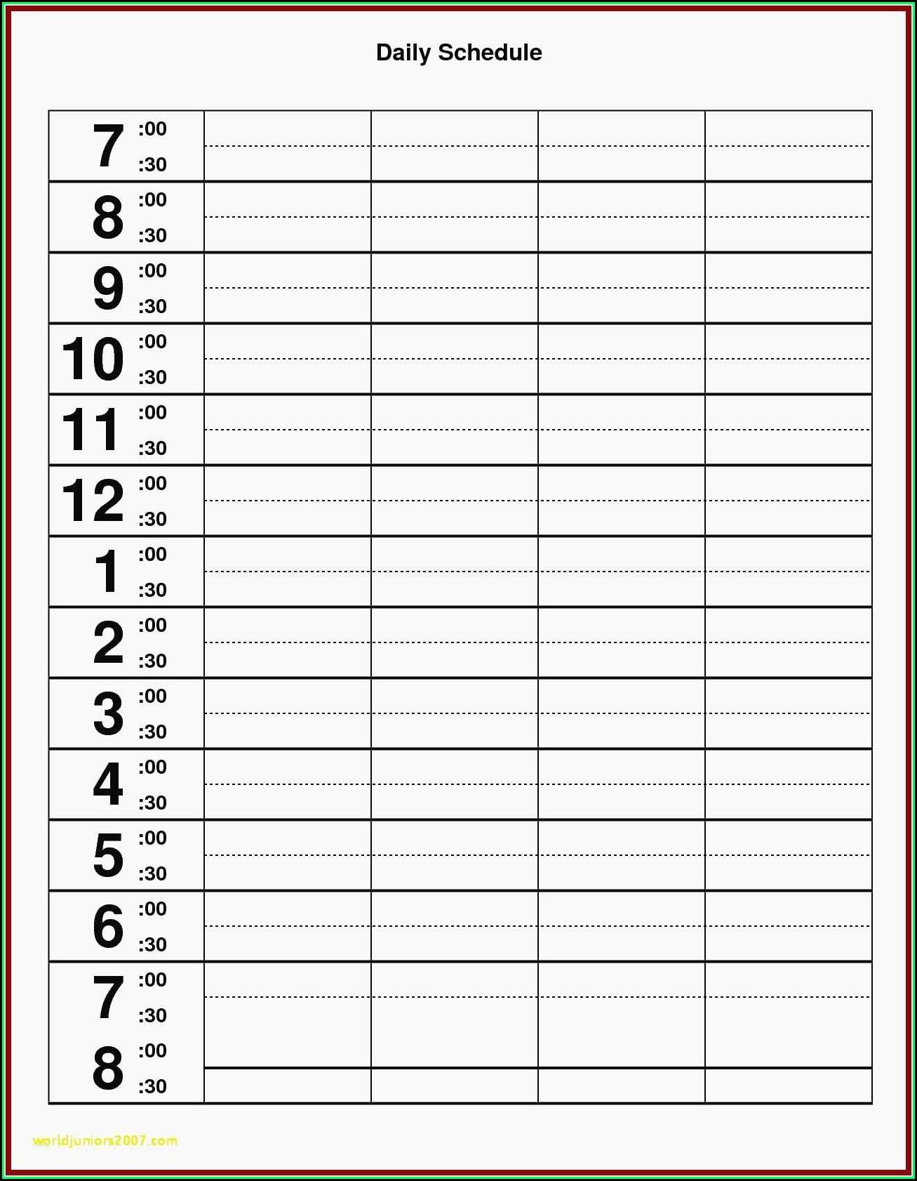 Best Monthly Employee Schedule Template Excel