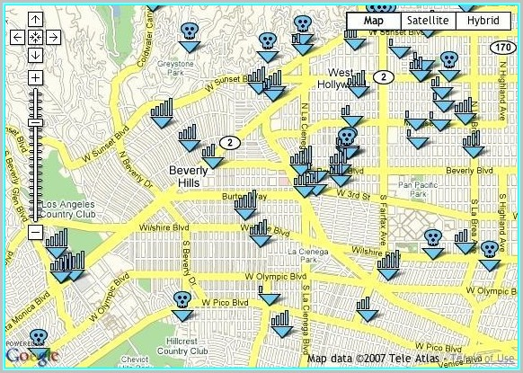 Beverly Hills Tours Of Celebrity Homes Map