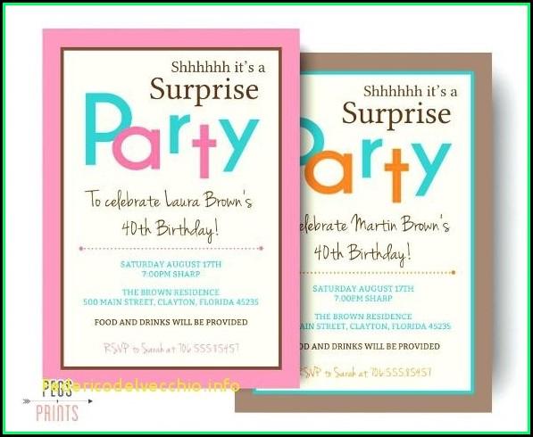 Birthday Invites Templates Microsoft