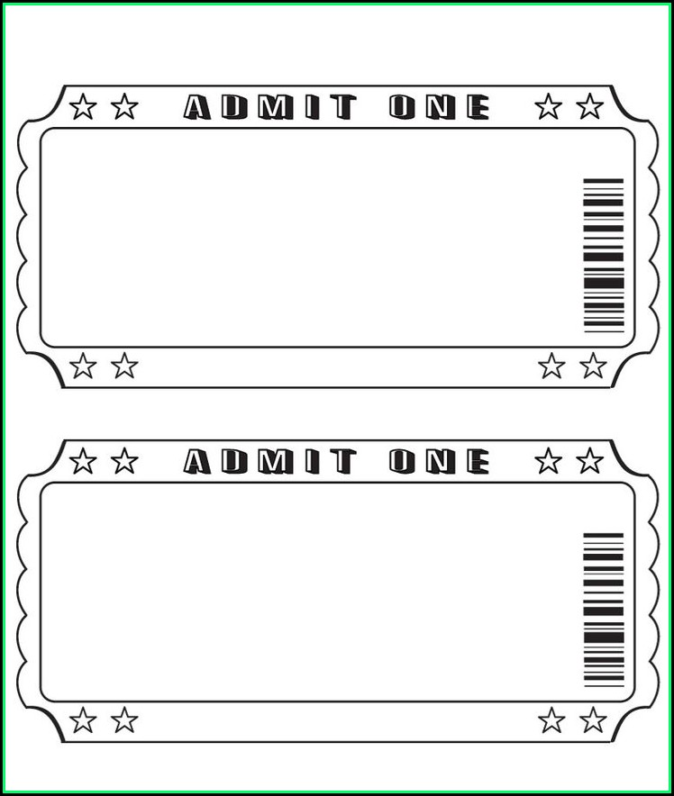 Blank Ticket Stub Template