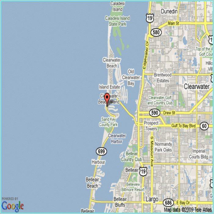 Clearwater Beach Hotels Map