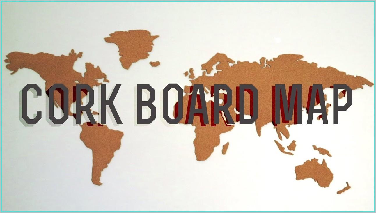 Diy World Map Corkboard
