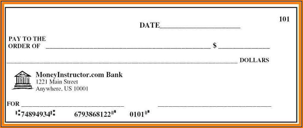 Fake Payroll Check Template
