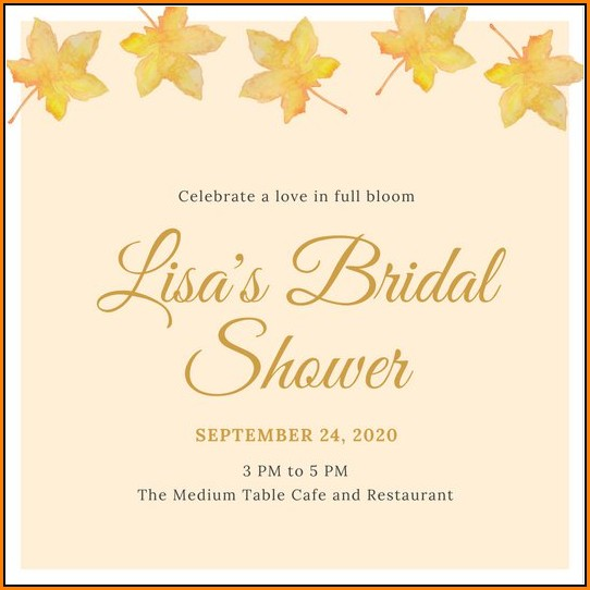 Fall Bridal Shower Invitation Templates