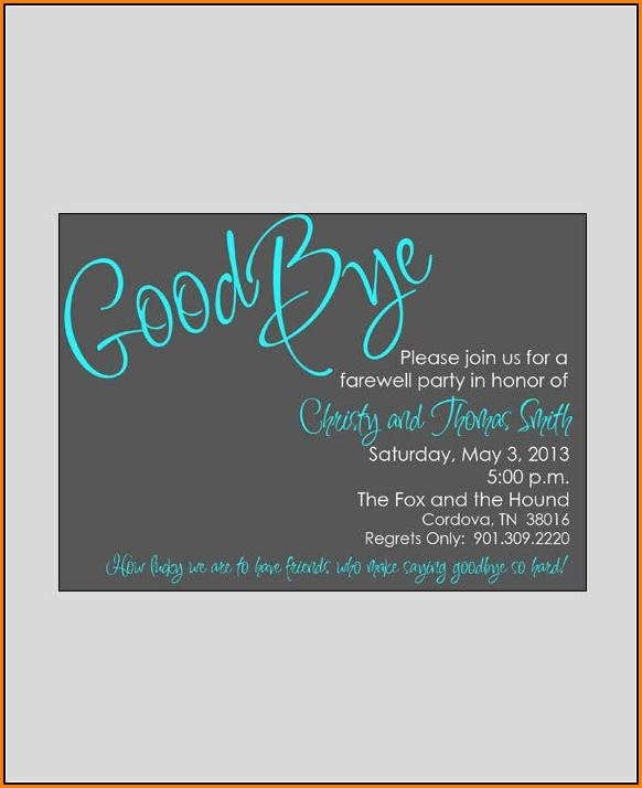 Farewell Invitation Template Editable