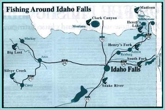 Fly Fishing Idaho Map