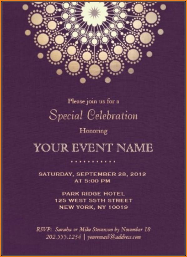 Formal Invitation Card Template