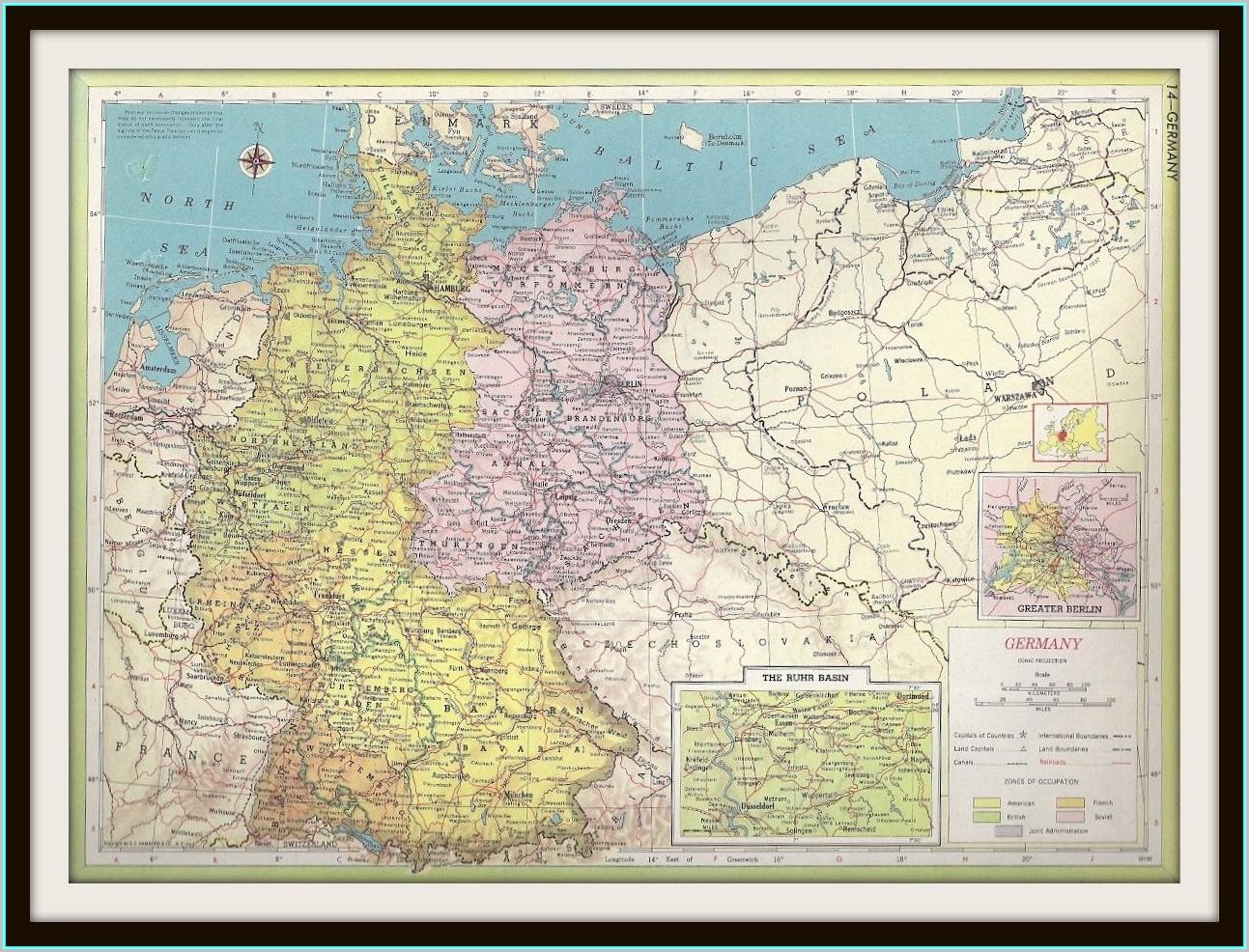 Frameable World Maps