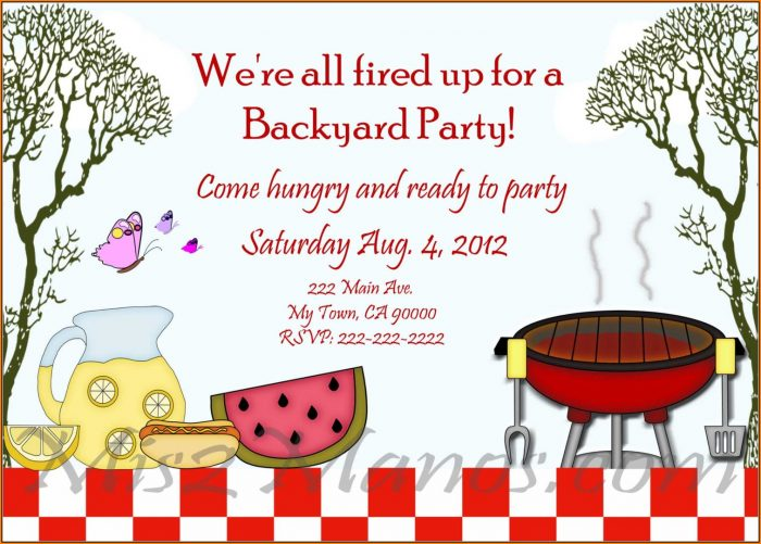 Free Bbq Invitation Template Word