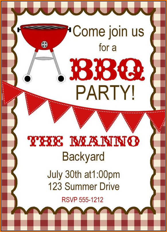Free Bbq Invitation Templates Printable