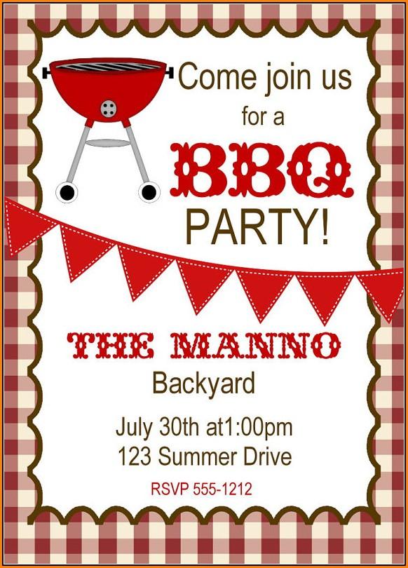 Free Bbq Invitation Templates Printable