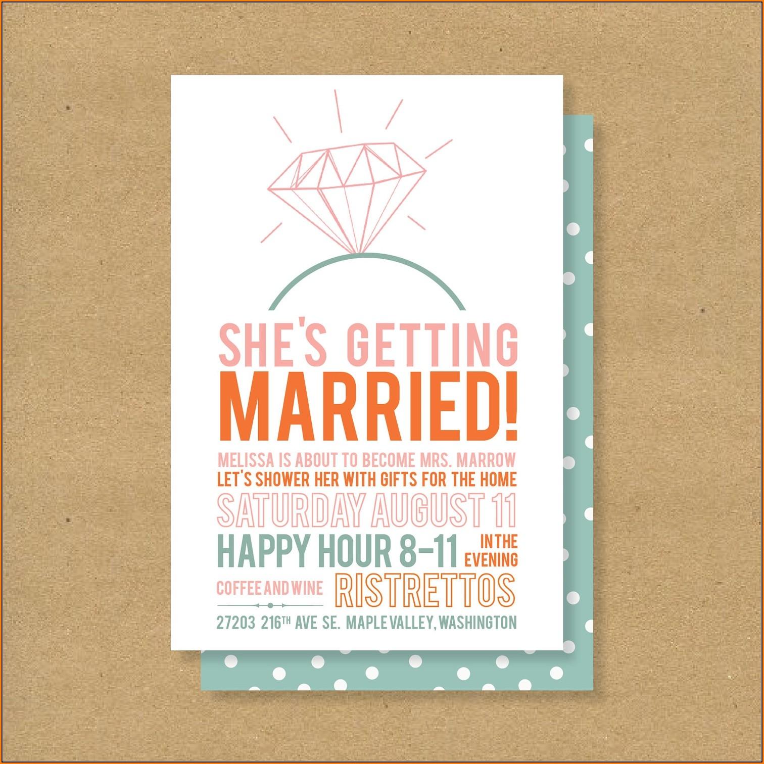 Free Bridal Shower Invitation Templates For Microsoft Word