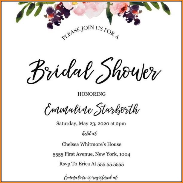 Free Bridal Shower Invitation Templates To Print