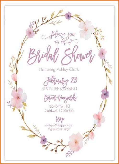 Free Bridal Shower Templates