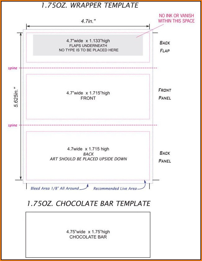Free Candy Bar Wrapper Template