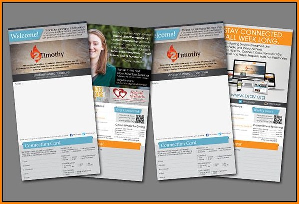 Free Church Bulletin Templates Indesign