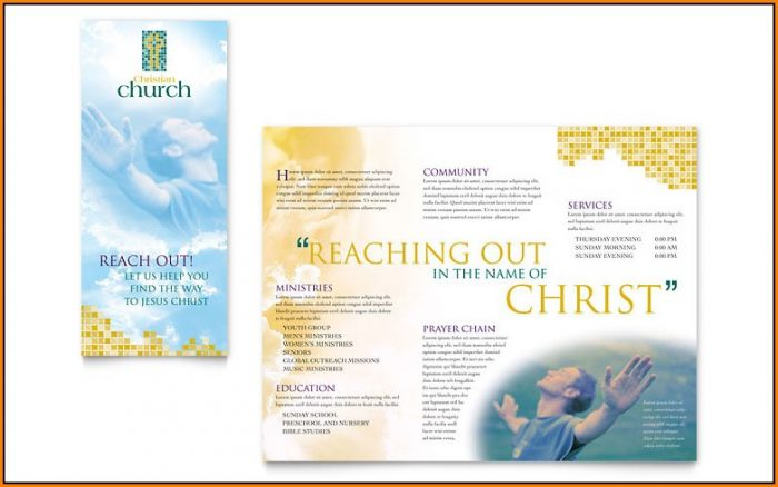 Free Church Bulletin Templates Microsoft Publisher