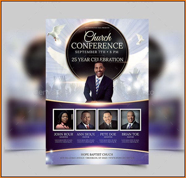 Free Church Flyer Templates Psd