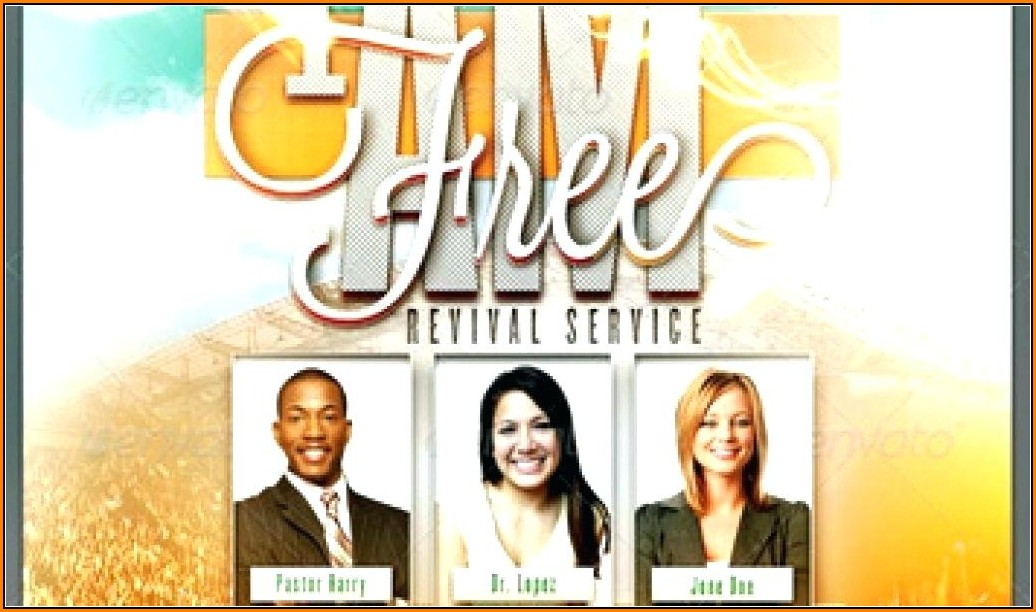 Free Church Flyer Templates Revivals