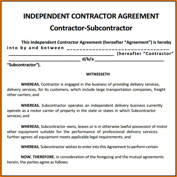 Free Contractor Agreement Template Uk