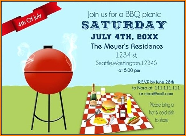 Free Downloadable Bbq Invitation Template