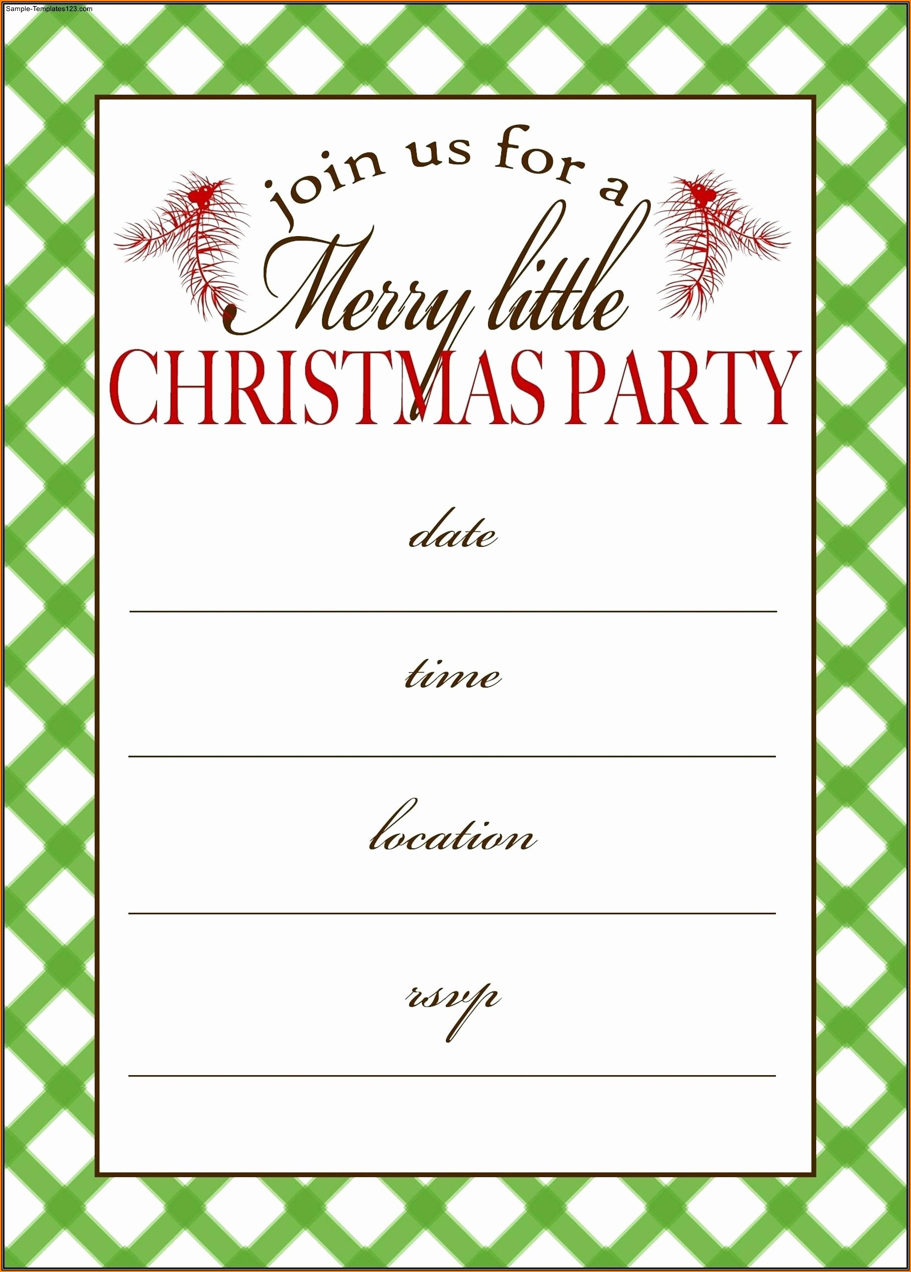 Free Editable Christmas Party Invitation Templates