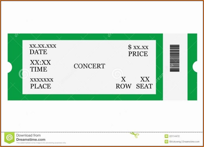 Free Editable Concert Ticket Template