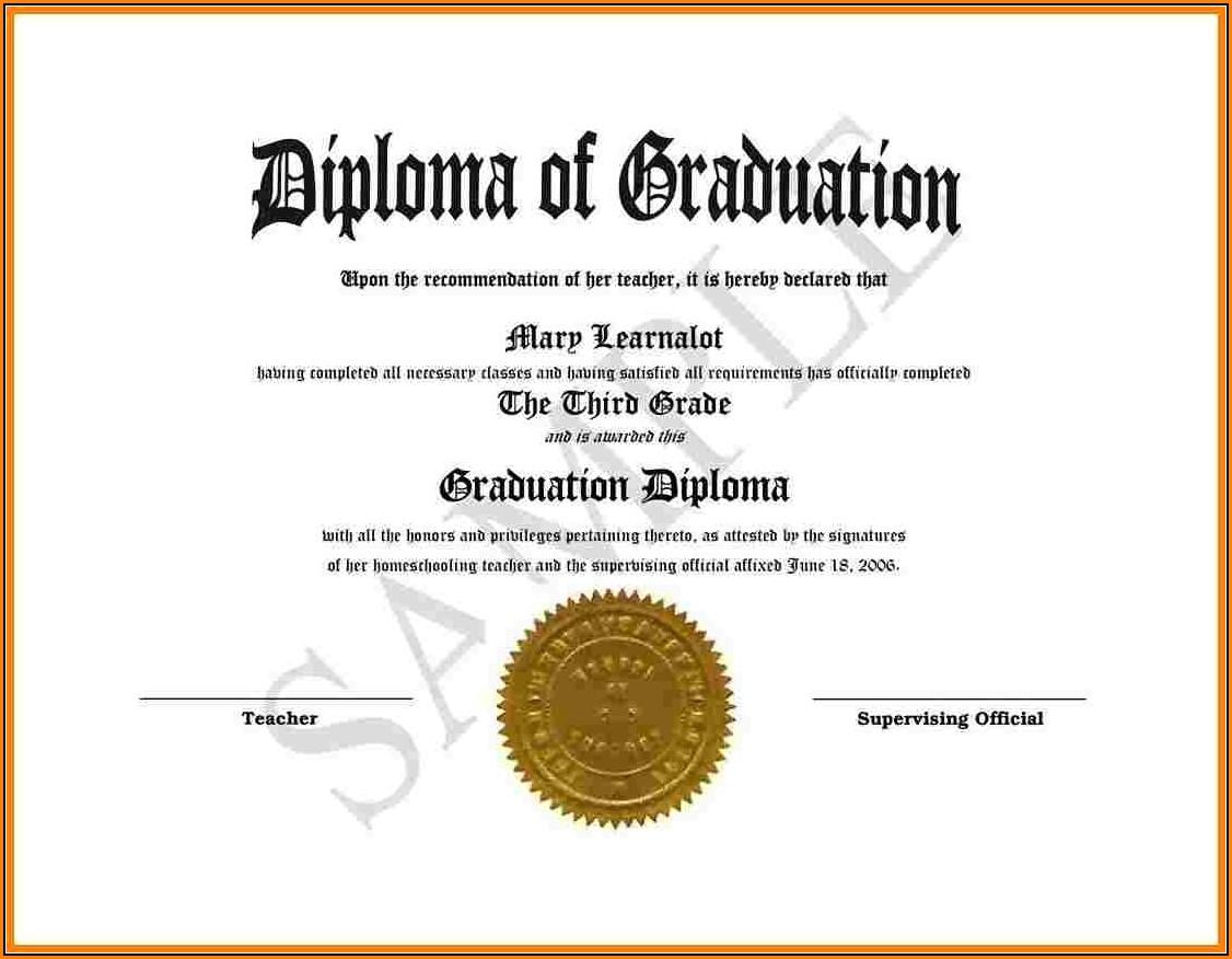 Free Editable High School Diploma Templates