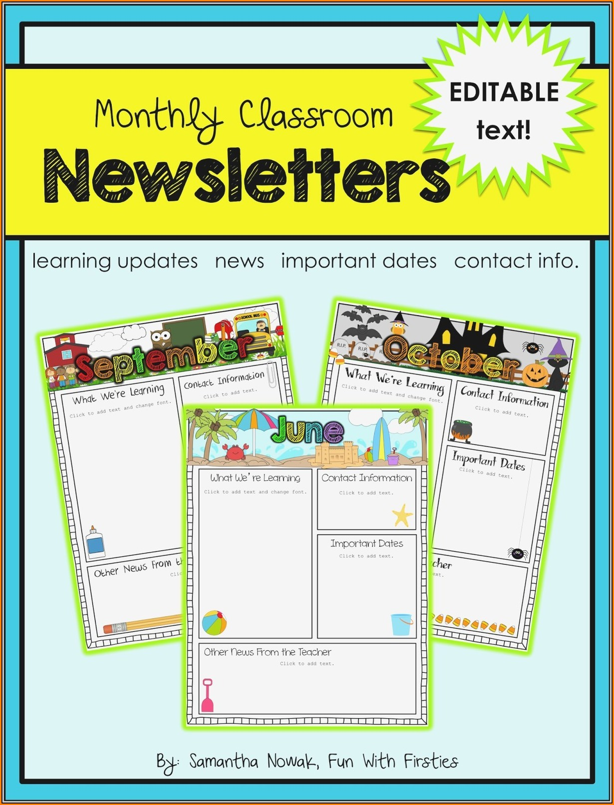 Free Editable School Newsletter Templates For Word