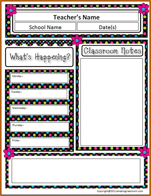Free Editable Teacher Newsletter Templates