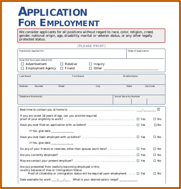 free-employment-application-template-word Job Application Form Truck Driver on printable sample, free printable 1099, blank dump, subcontactor cdl, california free printable, template for, free fillable blank, for employment template, form template word,