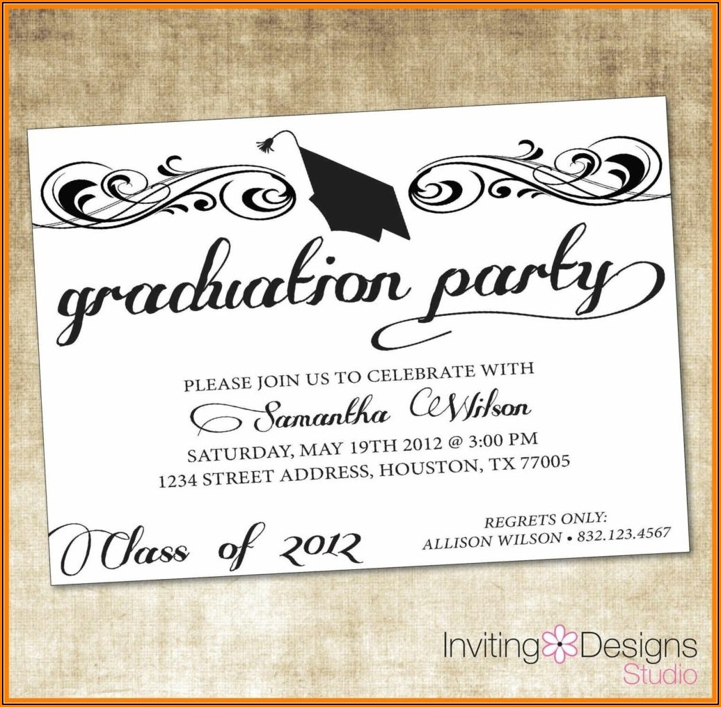 Free Graduation Party Invitation Templates For Word