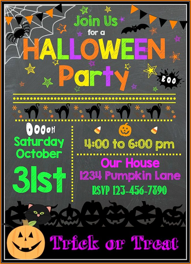 Free Halloween Birthday Party Invitation Templates