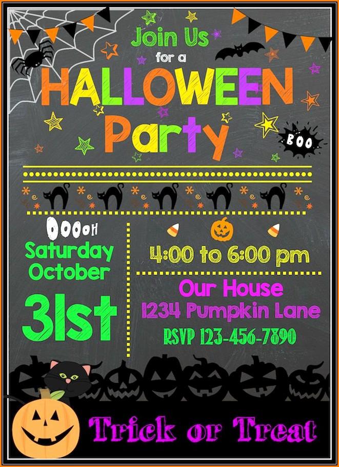 Free Halloween Birthday Party Invitation Templates