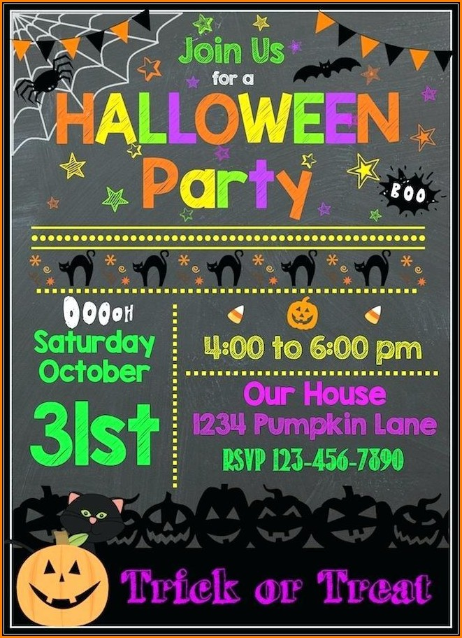 Free Halloween Party Invitation Templates For Word