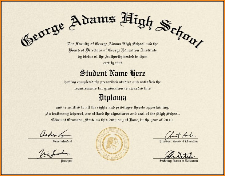 Free High School Diploma Templates