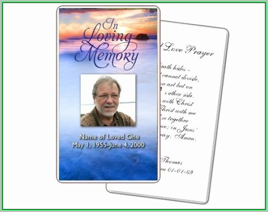 Free Memorial Card Templates For Funeral