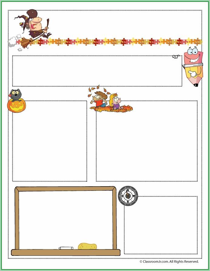 Free October Preschool Newsletter Templates